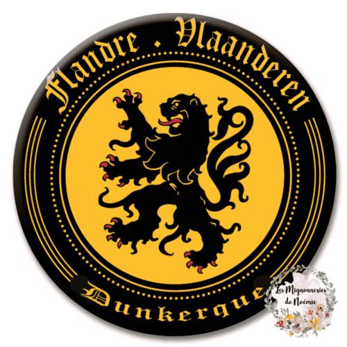 badge carnaval dunkerque lion flandre
