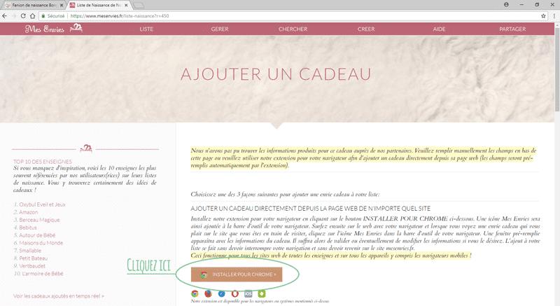Ajouter Nos Produits Sur Une Liste De Naissance Mesenvies Fr