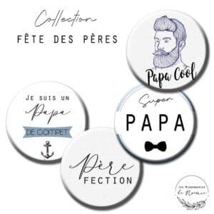 badge fête des pères