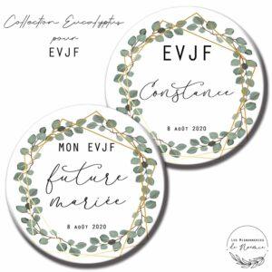 badge EVJF eucalyptus