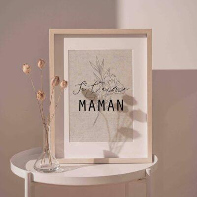 Affiche en lin